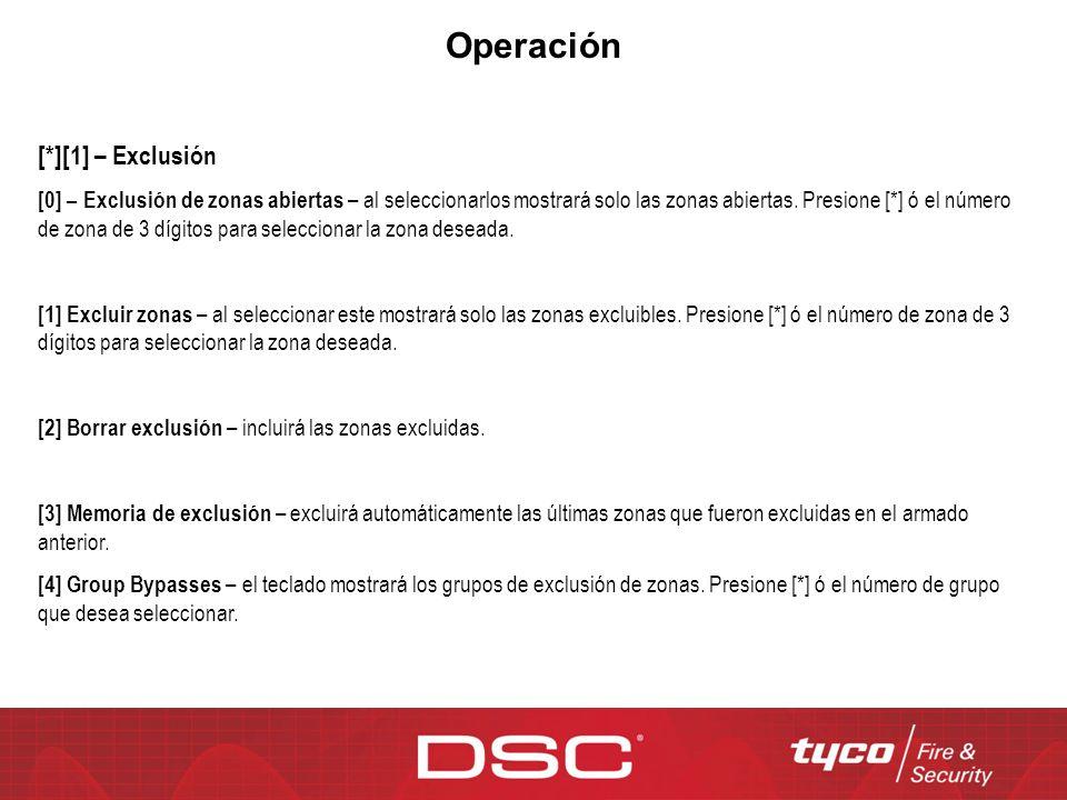 Operación [*][1] – Exclusión